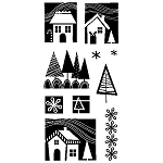 Inkadinkado-Clear Stamps-Winter Homes