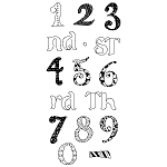 Inkadinkado Clear Stamps - Fun Numbers