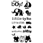 Inkadinkado Clear Stamps - Baby Boy