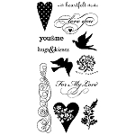 Inkadinkado Clear Stamps - Hearts & Love