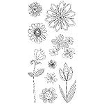Inkadinkado Clear Stamps - Doodle Flowers