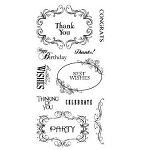 Inkadinkado Clear Stamps - Expressions & Frames