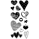 Inkadinkado Clear Stamps - Hearts