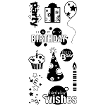 Inkadinkado Clear Stamps - Birthday Fun