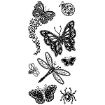 Inkadinkado Clear Stamps - Gemstone Insects :)