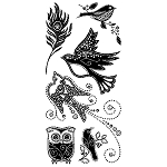 Inkadinkado Clear Stamps - Gem Stone Birds :)