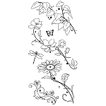 Inkadinkado Clear Stamps - Beauty Stems From Here