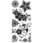 Inkadinkado Clear Stamps - Gemstone Flowers