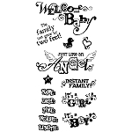 Inkadinkado Clear Stamps - Welcome Baby