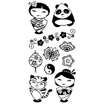 Inkadinkado Clear Stamps - Asian Characters