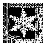 Inkadinkado Clear Stamps - Snowflake Winter