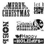 Inkadinkado Clear Stamps - Holiday Thoughts