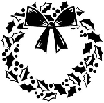 Inkadinkado Clear Stamps - Wreath