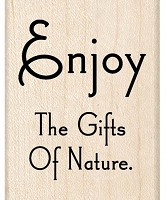 Inkadinkado - Wood Mounted Stamp - Nature Quote