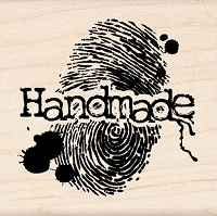 Inkadinkado - Wood Mounted Stamp - Handmade Fingerprint