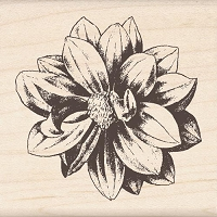 Inkadinkado - Wood Mounted Stamp - Medium Flower