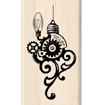 Inkadinkado-Wood Mounted Rubber Stamp-Steampunk Ornament