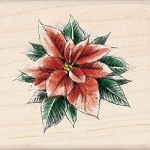 Inkadinkado Wood Mounted Stamp - Poinsettia :)