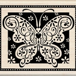 Inkadinkado Wood Mounted Rubber Stamp - Summer Butterfly