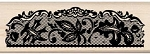 Inkadinkado-Wood Mounted Stamp-Leaf Lace Trim
