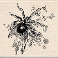 Inkadinkado - Wood Mounted Stamp - Spider
