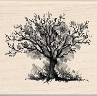 Inkadinkado - Wood Mounted Stamp - Fall Tree