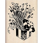 Inkadinkado Wood Mounted Stamp - Festive Gift