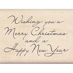 Inkadinkado Wood Mounted Stamp - Christmas and New Year