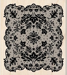 Inkadinkado-Wood Mounted Stamp-Victorian Leaf Lace