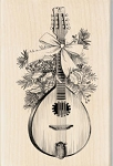 Inkadinkado - Wood Mounted Rubber Stamp - Festive Mandolin :)