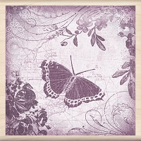 Inkadinkado - Wood Mounted Stamp - Butterfly Collage