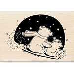 Inkadinkado Wood Mounted Stamp - Cute Polar Bear :)