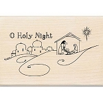 Inkadinkado Wood Mounted Stamp - O Holy Night :)