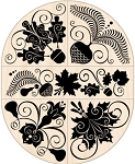 Inkadinkado-Wooden Stamp Set-Autumn Leaves