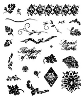 Inque Boutique - See D's  Unmounted Rubber Stamp Set  - Shabby Chic