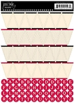 Jenni Bowlin Stickers - Banner Red