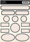 Jenni Bowlin Stickers - Black/Red Dotted Labels