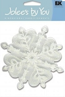 EK Success Jolee's Boutique - Dimensional Embellishments - Snowflake White