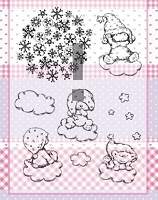 Joy Crafts - Clear Stamps - Babies on Clouds
