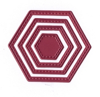 Joy Crafts - Mery's Cutting Die - Stitched Hexagons