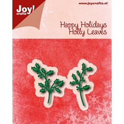 Joy Crafts - Cutting Die - Noor! Happy Holidays Holly Leaves