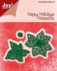 Joy Crafts - Cutting Die - Noor! Happy Holidays Poinsettia