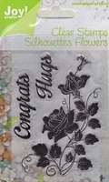 Joy Crafts - Clear Stamps - Rose Congrats