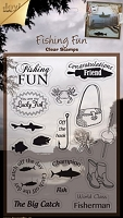 Joy Craft - Clear Stamp - Fishing Theme