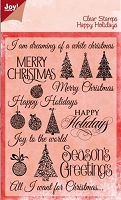 Joy Crafts - Clear Stamps - Happy Holidays