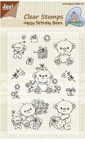 Joy Crafts - Clear Stamps - Happy Birthday Bears