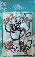 Joy Crafts - Lin & Lene Design - Embossing Stencil - Butterfly Background