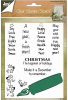 Joy Crafts - Clear Stamp & Die Set - Christmas Candle with Sentiments