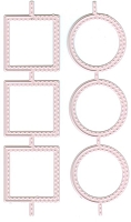 Joy Crafts - Mery's Cutting & Embossing Die - Flip Squares & Circles