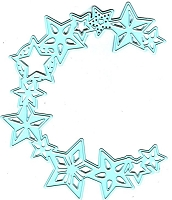 Joy Crafts - Noor Cutting & Embossing Die - Winter Wishes Circle Stars